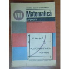 Matematica. Algebra. Manual clasa a 8a
