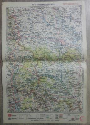 Iasi-Roman-Bacau-Vaslui// harta lito 1928, M. D. Moldoveanu foto