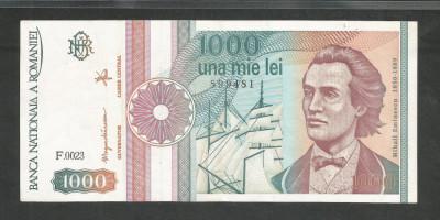 ROMANIA  1000  1.000  LEI  1991  [08]  a  UNC  , necirculata , cu punct foto