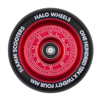 Roata trotineta Slamm 110mm Halo Deep Dish Red + Abec 9 foto
