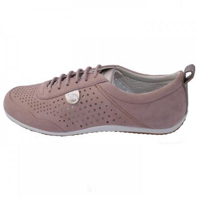Adidasi dama, din piele naturala, Geox, D8209B-C8056-J0-06, roz deschis foto
