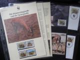 Serie timbre fauna WWF animale nestampilate postale filatelice