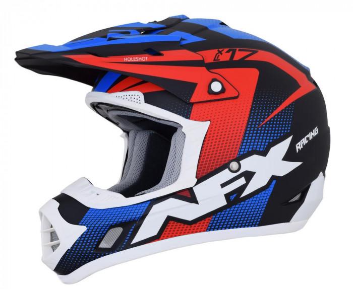 Casca Cross/ATV AFX FX-17 Holeshot culoare negru mat rosu alb albastru marime Cod Produs: MX_NEW 01105281PE