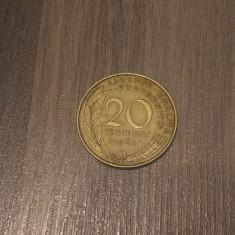 Monedă 20 centimes 1962 Franta