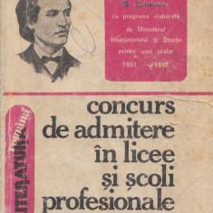Boatca, S. s. a. - CONCURS DE ADMITERE IN LICEE SI SCOLI PROFESIONALE, Alta editura