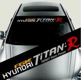 Sticker parasolar auto HYUNDAI (126 x 16cm)