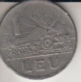 Moneda 1 leu, R. S. R., 1966