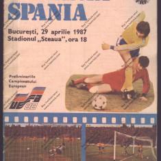 PROGRAN FOTBAL_ROMANIA_SPANIA 29 APRILIE 1987