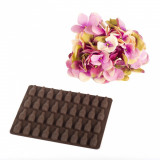 Forme silicon ciocolata sticlute, Mys Silicone, 21.5 cm, 10 cm, 2 cm, Maro