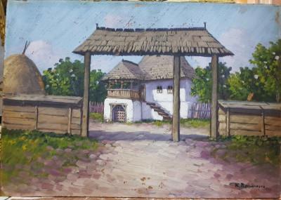 Nicolae Romanescu (1854-1931) - Casa batraneasca foto