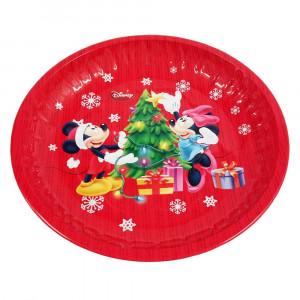 Platou metalic rotund Mickey & Minnie