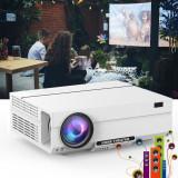Video proiector Full HD 4K, home theater LCD, 1920x1080, 3600lm, difuzor, USB/HDMI/VGA/Jack 3.5