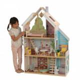 Casuta de papusi din lemn Juliette ZOEY Dollhouse Kidkraft cu sunete si lumini