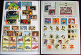 Clasor 306 timbre straine nestampilate + 23 colite, blocuri & serii complete MNH