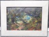 Tablou vechi Luminis - semnat Verona, Peisaje, Ulei, Impresionism