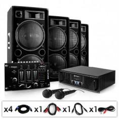 "Electronic-Star Sistem PA ""Bassbrigade USB"" set cutii amplificator Mixer"