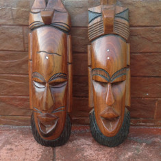 Arta Africana - Set Masca din lemn masiv !!!
