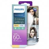 Bec LED Scene switch E27, 8W (60W), ambianta alba, temperatura culoare calda-neutra, Philips