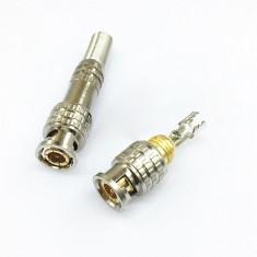 Conector mufa BNC cu surub pentru cablu coaxial