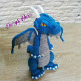 Dragon jucarie handmade crosetata