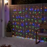 Instalatie Perdea de Lumini Multicolore 240 LED-uri