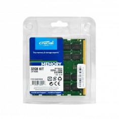 Memorie laptop Crucial 32GB. DDR4. 2666MHz. CL19. 1.2v. Dual Ranked x8. Dual Channel Kit CT2K16G4SFD8266