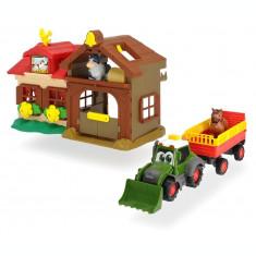 Set de joaca ferma cu tractor si remorca