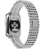 Cumpara ieftin Curea pentru Apple Watch Silver Luxury iUni 40 mm Otel Inoxidabil
