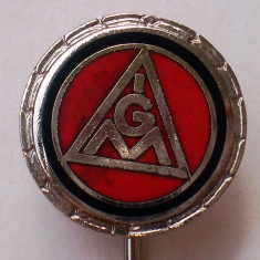 I.643 INSIGNA STICKPIN GERMANIA IGM IG METALL h12mm email