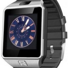 Smartwatch iUni DZ09 Plus, 1.54inch, 1.3MP, Bluetooth, Bratara silicon (Argintiu)