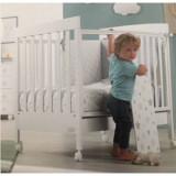 Patut din lemn bebelusi Homi alb