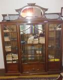 Biblioteca stil, lemn trandafir, usi si oglinda cristal, vechime 100 de ani