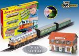 Trenulet electric calatori cu far si macheta (clasic), Pequetren