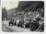 B717 Tren CFR vagon defileu Ciucea angajati SAR de Telefoane anii 1930