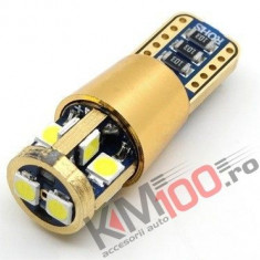 Led auto T10/(W5W) Canbus cu 10 SMD 3528