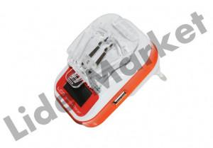 Incarcator universal pentru baterii de telefon cu USB 5V si 220V