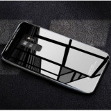 Husa Samsung Galaxy S7 Edge MyStyle Back Glass husa cu sticla securizata pe spate de culoare neagra