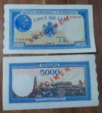 REPRODUCERE  bancnota specimen 1943-5000_lei_ Romania