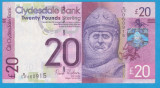 (1) BANCNOTA SCOTIA - 20 POUNDS 2013 (11 IULIE), PORTRET ROBERT THE BRUCE
