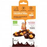Cumpara ieftin Coaja de portocala invelita in ciocolata bio 80g
