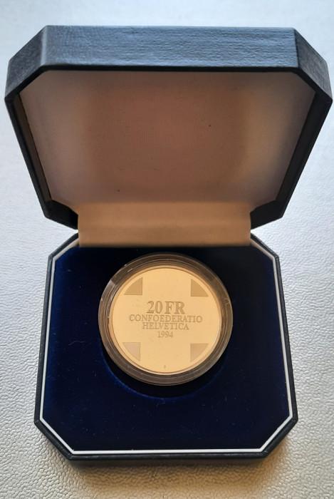 Moneda tematica de argint - 20 Francs 1994, Elvetia - Proof