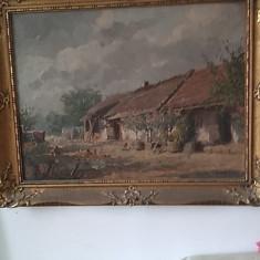 Tablou scoala maghiara UJVARY FERENC, Peisaje, Ulei, Impresionism