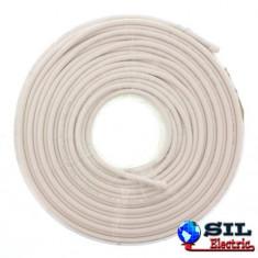 Cablu coaxial RG6, 75R, fire cuprat, ecranat cu folie AL+Al&Mg 80X0.12, Well