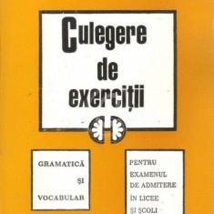 Gramatica si vocabular. Culegere de exercitii pentru examenul de admitere in licee si scoli profesionale