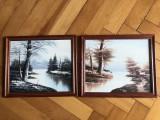 Tablou,pictura in ulei pe lemn,tehnica spaclu, Peisaje, Altul