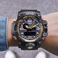 Ceas Army SBAO Dual Time analog si digital Quartz cronograf , alarma