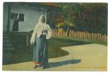 3957 - ETHNIC, woman, Romania - old postcard - used - 1912
