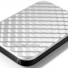 HDD Extern Verbatim Store inchninch Go Gen 2, 2.5 inch, 500GB, USB 3.0 si USB 2.0 (Argintiu)