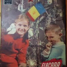 Flacara 27 decembrie 1958-numar cu ocazia anului nou,acasa la colectivisti