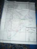 Harta mare Judet  GIURGIU ,dim.=117x93cm 1986 RSR Inst. Geodezie